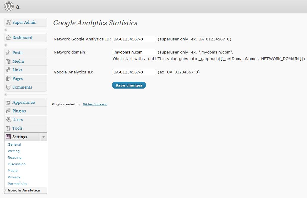 افزونهی آمارگیر گوگل برای وردپرس مولتی سایت